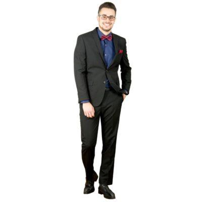 Fekete slim fit F&F öltöny