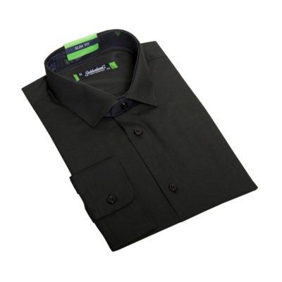 Fekete, slim ballagó ing