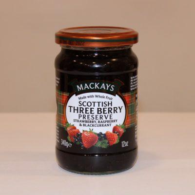Tradicionális skót eper-málna-feketeribizli lekvár
