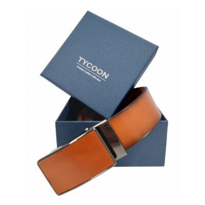 Tycoon cognac színű bőröv