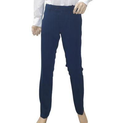 Középkék nadrág elasztikus szövetből