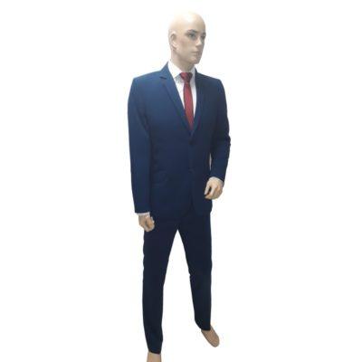 Középkék öltöny elasztikus szövetből