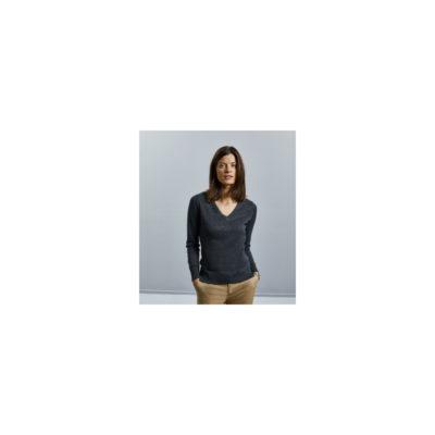 Russel női V-nyakú kötött pulóver
