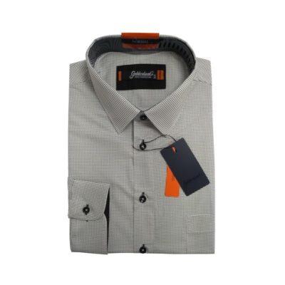 Goldenland 100% pamut fehér alapon fekete pöttyös ing