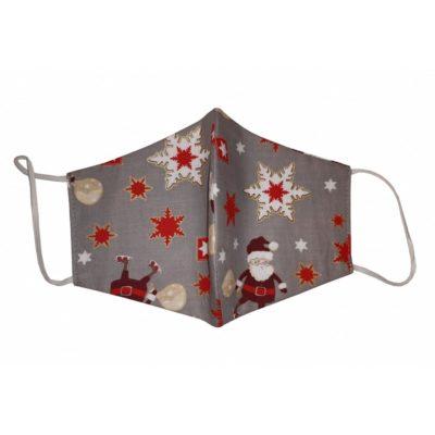 Karácsonyi mintás maszk