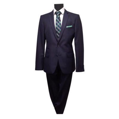 Mika Rauta kék kockás slim fit öltöny