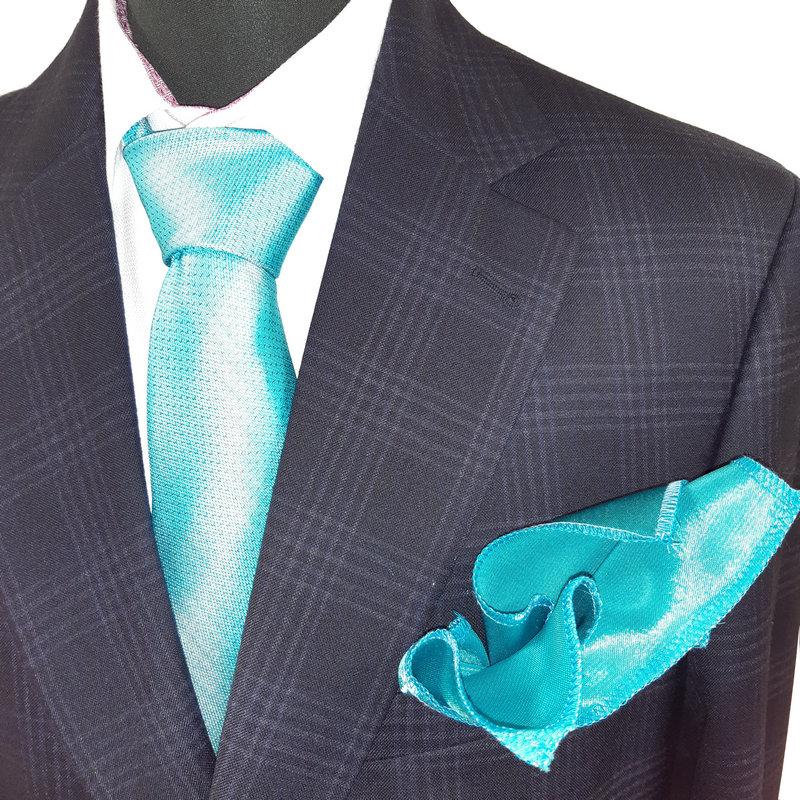 Seroussi 100% szűz gyapjú, mintás slim fit öltöny