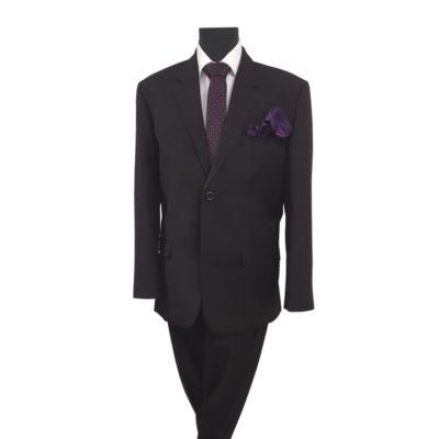 Stefano normál fazonú fekete öltöny