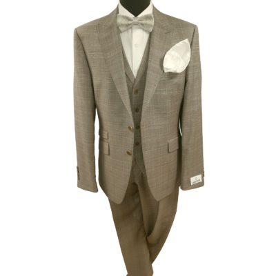 Wilvorst mellényes kockás esküvői öltöny